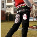 Spodnie skate hip hop baggy rurki damskie