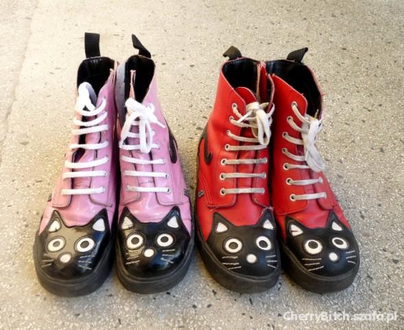 Kocie buty TUK kot kitty kotki Restyle jak glany w Półbuty