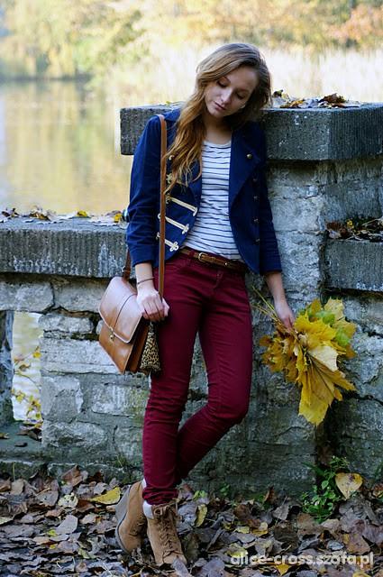 Vintage jesienny spacer