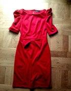 Czerwona sukieneczka bufki ZIP