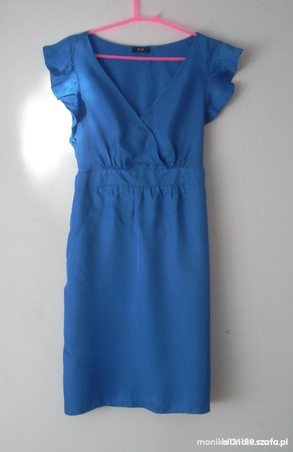 sukienka kobaltowa