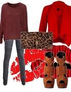 czerwień i burgund