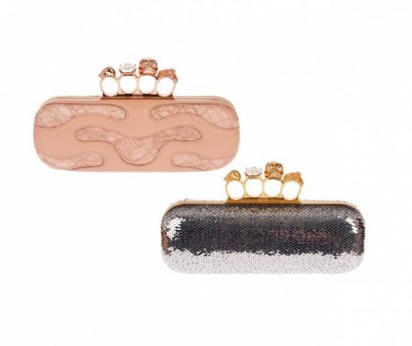 McQueen biżuteryjne kopertówki...
