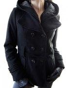 włoski płaszcz z kapturem kolory S M L XL XXL...
