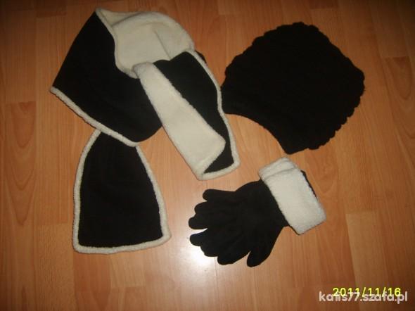 Pozostałe komplet czapka szalik rękawiczki