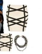 spódniczka Bodycon bandażowa strappy Top shop