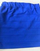 Spódnica bandażowa 34 chabrowa kobaltowa