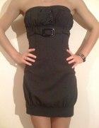 Sukienka tunika w drobne paski