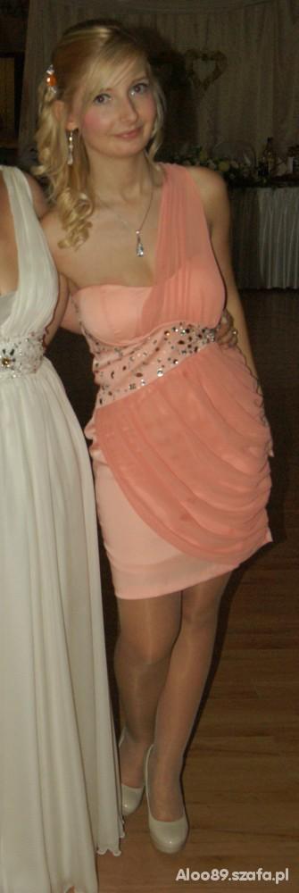 Na specjalne okazje Sukienka brzoskwiniowaodsłona druga