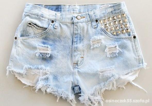 8441f988 szorty jeans wysoki stan w Ubrania - Szafa.pl