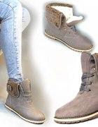 Worker boots ocieplane 40 41 czarne szare