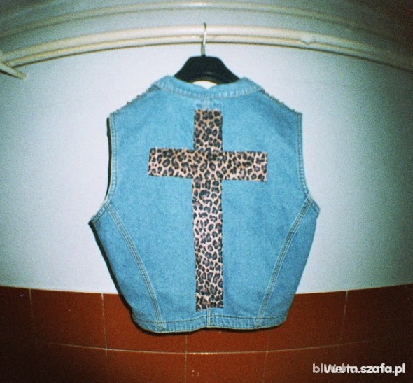 Poszukiwane Kamizelka z panterkowym krzyżem