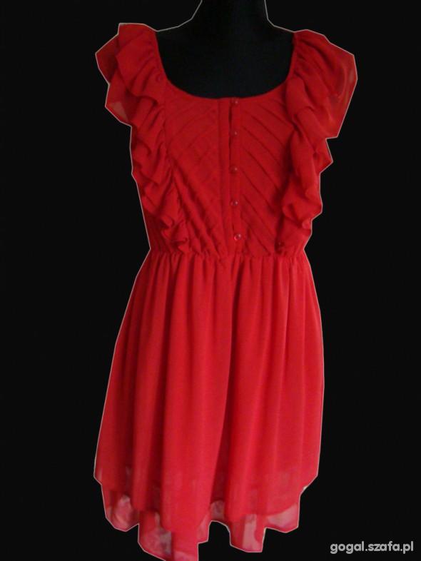 czerwona sukienka M L