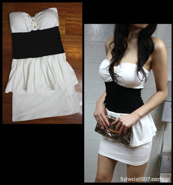 Imprezowe Biała sukieneczka