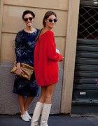 czerwony sweterek