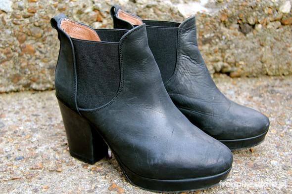 topshop allegra skórzane ankle boots