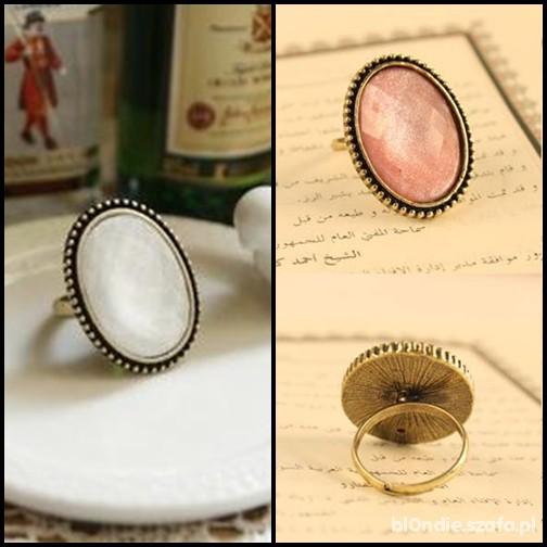 Retro vintage pierścionki z kamieniami