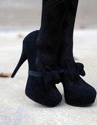 Czarne eleganckie buciki