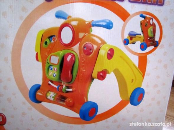 Zabawki 2 w 1 pchacz jeździk Smiki IDEAŁ