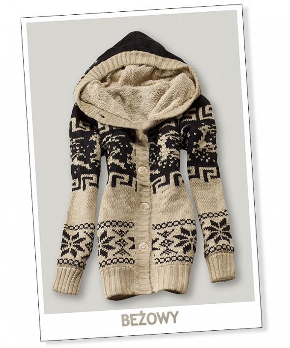 Sweter miś z reniferami...