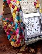 zegarek japan style kolorowy