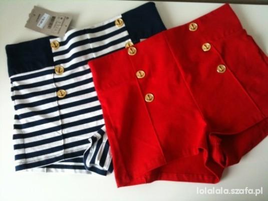 Ubrania Czerwone wysokie spodenki