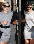 szara sukienka Rihanna Kelly