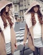 płaszczyk japan style sukienka bluzka