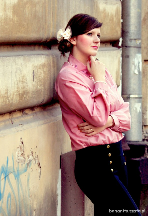 Romantyczne Pink blouse