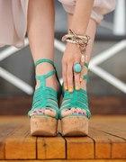 miętowe buciki...