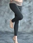legginsy a la spodnie zamszowe przeszycia
