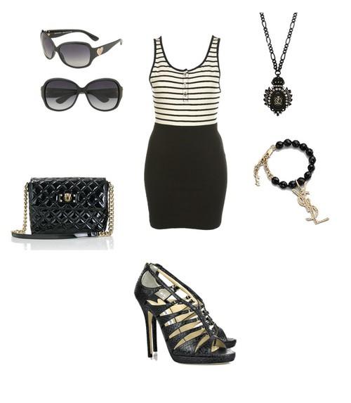 Eleganckie czarny z białym