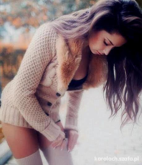 sweterek i zakolanówki