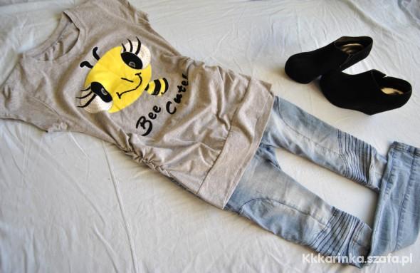 Super bluzeczka z pszczolka