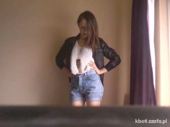 Mój styl ażur skóra jeans