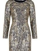 złota sukienka Next...