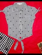Koszula vichy z oldschoolowymi jaskółkami