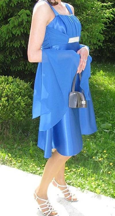 Na specjalne okazje Sukienka chabrowa