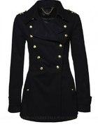 Płaszcz czarny w militarnym stylu 40