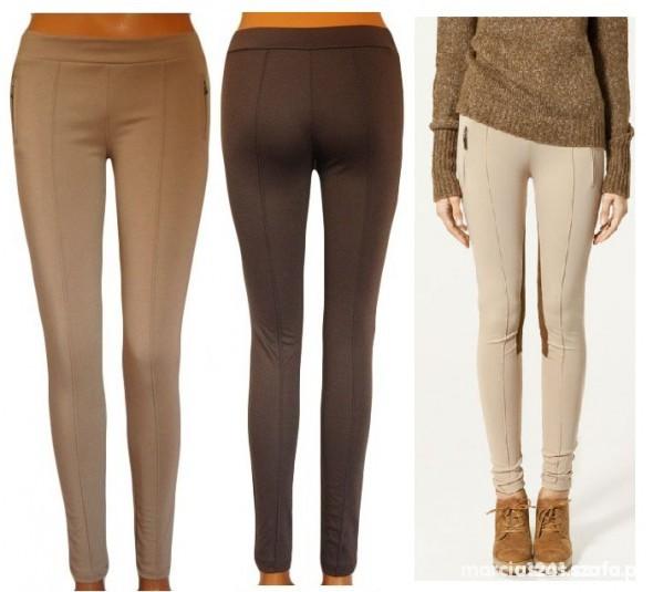 Leginsy bryczesy spodnie materiałowe