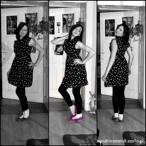 Mój styl Sukienka w gwiazdki