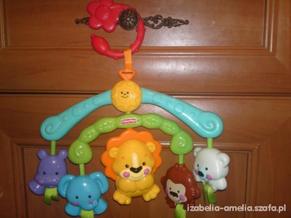 Zabawki Minikaruzela Fisher Price ze zwierzątkami