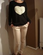 Spodnie rurki bluzeczka serduszko...