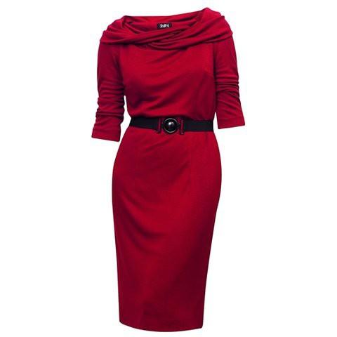 Czerwona sukienka GaPa Fashion...