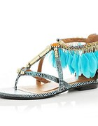 Sandałki z piórkami