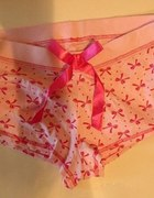 F & F słodkie różowe szorty damskie kokardki...