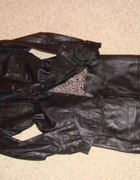 czarna spódnica ołówkowa ze skóry topshop 38