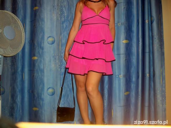 Mój styl sukienka falbany rozowe LATO CHCE ZNÓW