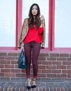 red &&& burgundy