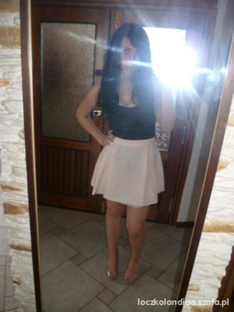 Mój styl gorset promode i spódniczka pudrowa
